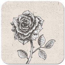Untersetzer mit Blumenmotiv