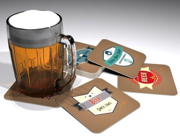 """Bierdeckel """"Old Beer Labels"""""""