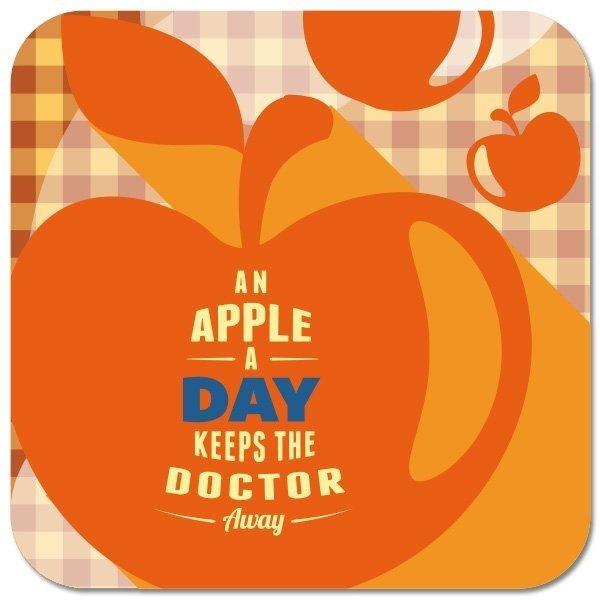 """Untersetzer """"An Apple a Day"""""""