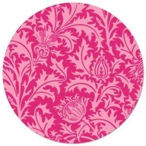 Bierdeckel Pink mit Blumenwiese
