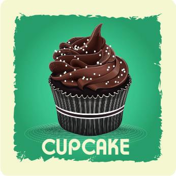 """Getränkeuntersetzer """"Cupcakes"""""""