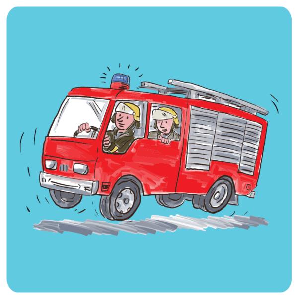 """Untersetzer """"Feuerwehr"""""""
