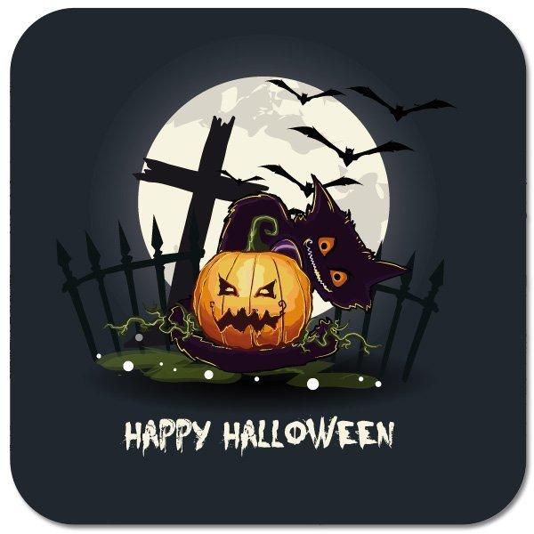 """Bierdeckel """"Happy Halloween"""""""