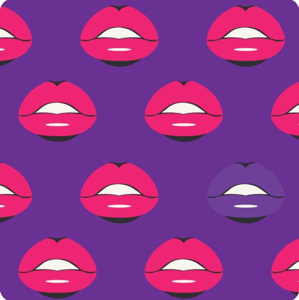 "Getränkeuntersetzer ""Lips"""
