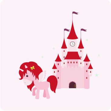 """Getränkeuntersetzer """"Prinzessin Leila & ihr Pony"""""""